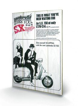 Lambretta - SX Appeal plakát fatáblán