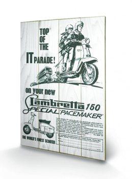 Lambretta - top of the IT parade plakát fatáblán