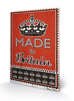 MARY FELLOWS - made in britain plakát fatáblán
