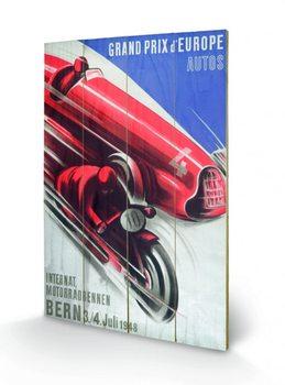 Monaco - 1955 plakát fatáblán