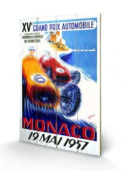 Monaco - 1964 plakát fatáblán