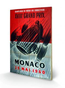 Monaco - 1967 plakát fatáblán