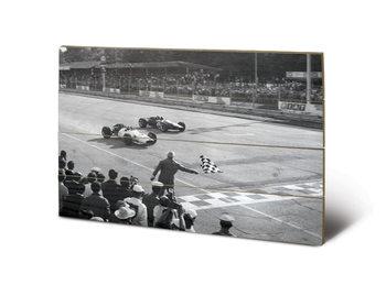 Monaco - Finish (B&W) plakát fatáblán