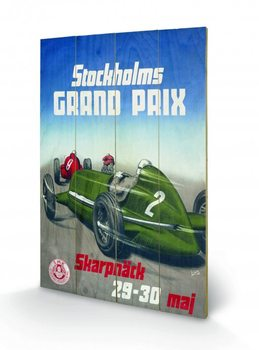 Monaco - Stockholm plakát fatáblán