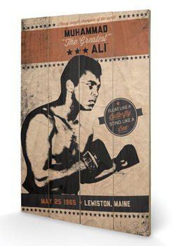 MUHAMMAD ALI - fighter vintage plakát fatáblán