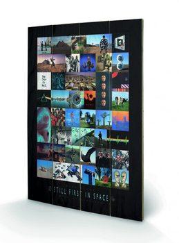 Pink Floyd - 40th Anniversary plakát fatáblán