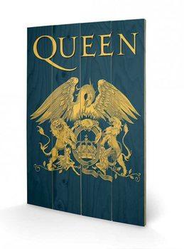 Queen - Crest plakát fatáblán