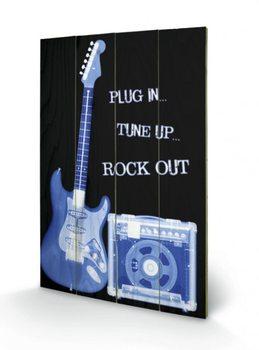Rock Out plakát fatáblán
