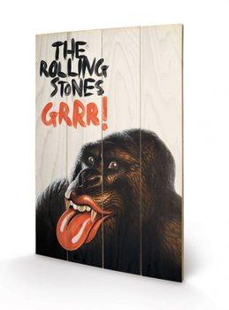 ROLLING STONES - grrr plakát fatáblán