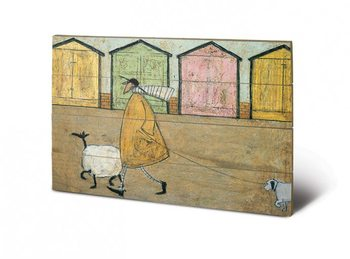 Sam Toft - Along The Prom  plakát fatáblán