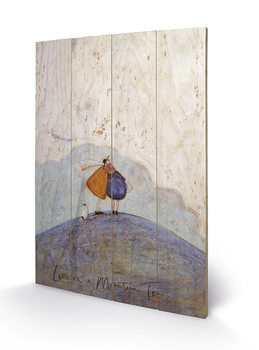 Sam Toft - Love on a Mountain Top plakát fatáblán
