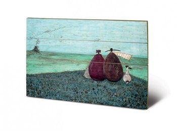 Sam Toft - The Same as it Ever Was plakát fatáblán