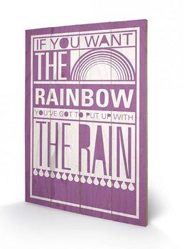 Sarah Winter - Rainbow plakát fatáblán