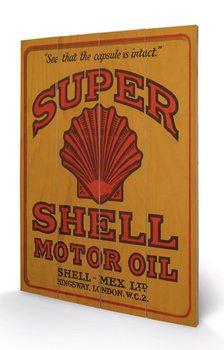 Shell - Adopt The Golden Standard, 1925 plakát fatáblán