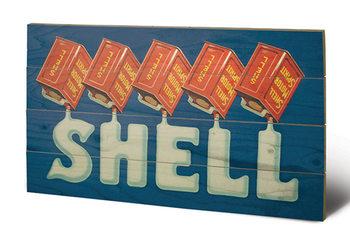 Shell - Five Cans 'Shell', 1920 plakát fatáblán