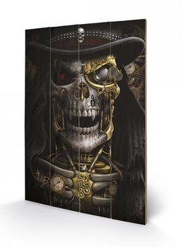 Spiral - Steampunk Reaper  plakát fatáblán