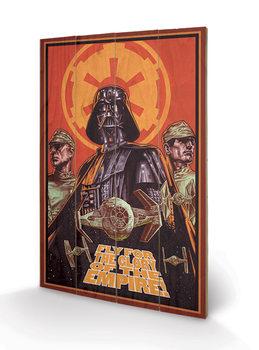 Star Wars - Fly For The Glor plakát fatáblán