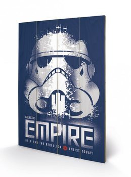 Star Wars Rebels - Enlist plakát fatáblán