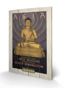 Transport For London - Asia, India Museum, 1930 plakát fatáblán