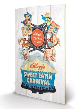Vintage Kelloggs - Sweet Eatin' Carnival plakát fatáblán