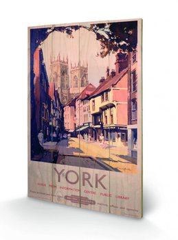 York - British Railways plakát fatáblán
