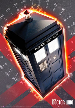 Doctor Who - Tardis Plakat i metall