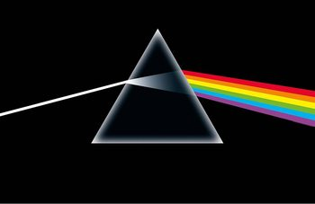 Plakat z materiału  Pink Floyd - Dark Side Of The Moon