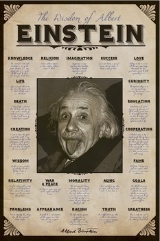 Albert Einstein - quotes Plakat