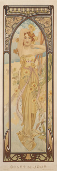 Alfons Mucha - clear day Plakat