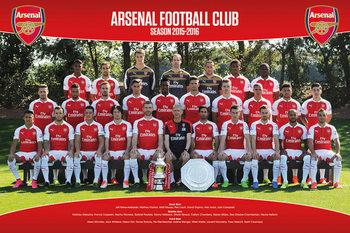 Arsenal FC - Team Photo 15/16 Plakat
