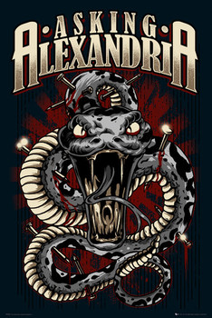 Asking Alexandria - snake Plakat