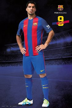 Barcelona 2016/2017 - Luis Suárez Plakat