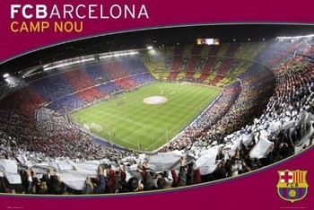 Barcelona - nou camp Plakat