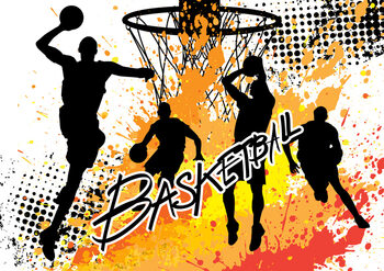 Plakat Basketball - Colour Splash