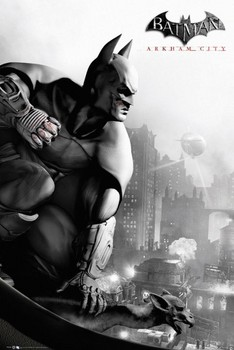 BATMAN ARKHAM - city cover Plakat