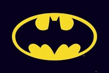 BATMAN - classic logo Plakat