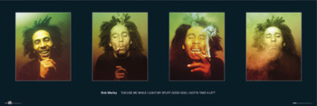 Bob Marley - faces Plakat