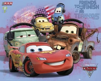 CARS 2 - group Plakat