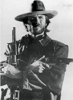 Clint Eastwood (B&W) Plakat