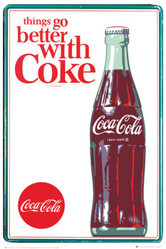 Coca Cola - things go better Plakat