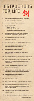Dalai Lama - návody pro život Plakat