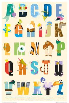 DISNEY - alphabet Plakat