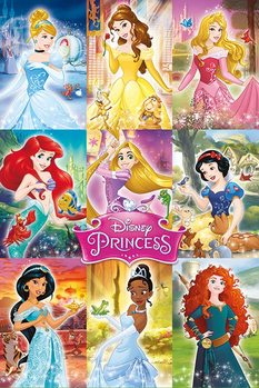 Disney Prinsesser - Collage Plakat