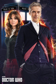 Doctor Who - Doctor and Clara Plakat