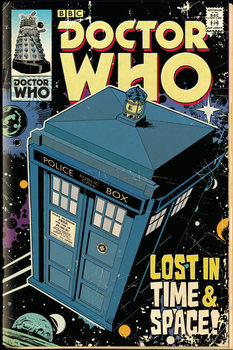 Doctor Who - Tardis Comic Plakat