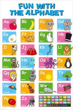Educational alphabet Plakat