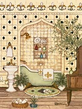 Elegant Bath III Kunsttryk