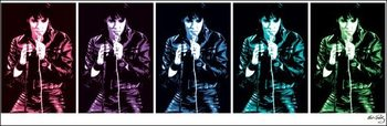 Elvis Presley - 68 Comeback Special Pop Art Reproduktion