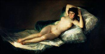 F.De.Goya - La Maja Desnuda Kunsttryk