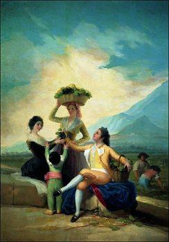 F.De.Goya - La Vendage En Automne Kunsttryk